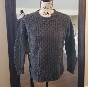 Madewell gray cable knit sweater